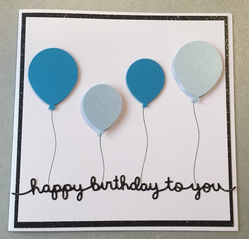 Balloon Birthday Card